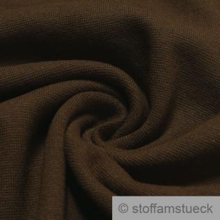 0, 5 Meter Baumwolle Lycra Interlock Jersey Bündchen braun 45 cm breit Schlauch