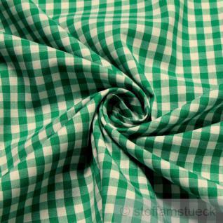 Stoff Baumwolle Vichy Karo groß grün weiß 5 mm Vichykaro