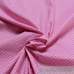 Stoff Baumwolle Popeline Mille Fleurs rosa kleine Blümchen Baumwollstoff