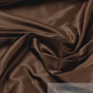 Stoff Baumwolle Satin schokobraun überbreit 3 m breit mercerisiert Baumwollstoff
