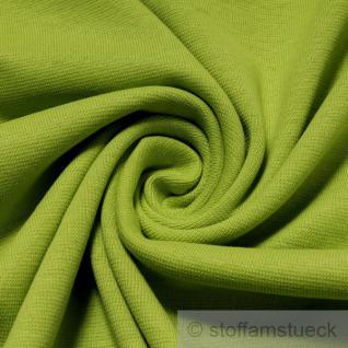 0, 5 Meter Baumwolle Lycra Interlock Jersey Bündchen kiwi 45 cm breit Schlauch
