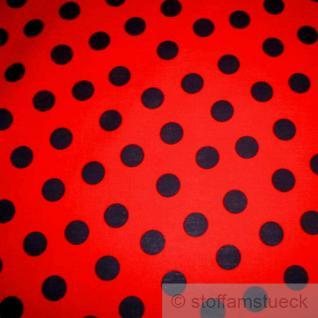 Stoff Baumwolle Punkte groß rot schwarz Tupfen Dots Baumwollstoff