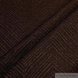 Stoff Leinen Baumwolle Polyester Fischgrat schokobraun Polster 35.000 Martindale