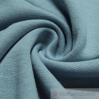 0, 5 Meter Baumwolle Lycra Interlock Jersey Bündchen pastellblau 45 cm breit