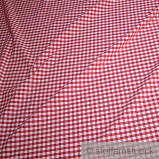 Stoff Baumwolle Vichy Karo rot weiß 2, 5 mm Vichykaro