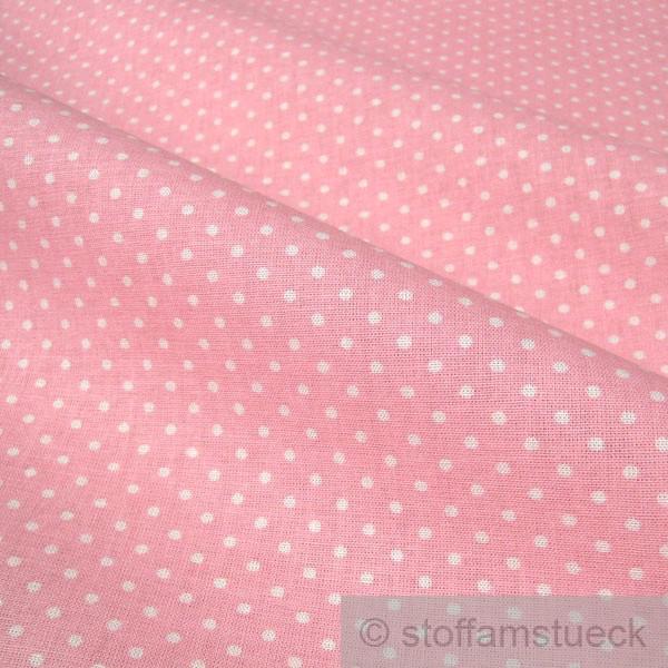 stoff baumwolle punkte ganz klein rosa wei tupfen baumwollstoff kaufen bei stoff am st ck. Black Bedroom Furniture Sets. Home Design Ideas