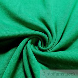 0, 5 Meter Baumwolle Lycra Interlock Jersey Bündchen grasgrün 45 cm breit II.Wahl