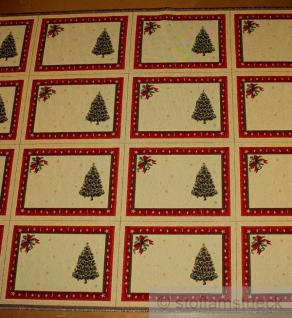 Stoff Baumwolle Polyester Gobelin Tannenbaum 4 Tischset Weihnachtsstoff Sets