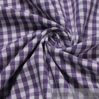 Stoff Baumwolle Vichy Karo groß lila weiß 5 mm Vichykaro
