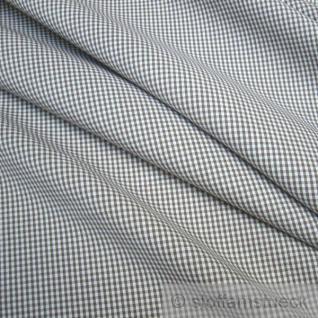 Stoff Baumwolle Vichy Karo klein braun weiß weiss 1, 5 mm Vichykaro