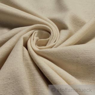 Stoff Baumwolle Flanell natur angeraut ungebleicht ungefärbt Molton