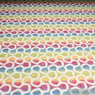 Stoff Baumwolle Polyester Gobelin Regenbogen Labyrinth bunt farbenfroh