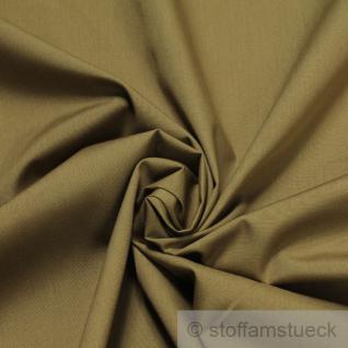 Stoff Polyester Baumwolle Popeline braun blickdicht glatt bügelarm