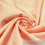 Stoff Baumwolle Zündholzstreifen orange weiß weiss 1, 5 mm Streifen schmal