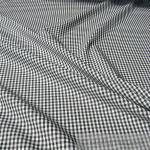 Stoff Baumwolle Vichy Karo schwarz weiß 2, 5 mm Vichykaro