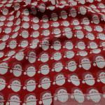 Stoff Polyester Baumwolle Gobelin Weihnachtsmann Nikolaus