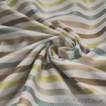 Stoff Trevira® CS Satin Streifen grau kiwi mint breit 300 cm nicht brennbar B1