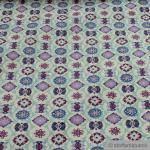 Stoff Baumwolle Acryl pastelltürkis Mandala beschichtet wasserabweisend