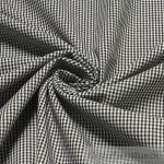 Stoff Baumwolle Vichy Karo klein schwarz weiß 1, 5 mm Vichykaro