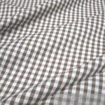 Stoff Baumwolle Vichy Karo groß braun weiß 5 mm Vichykaro