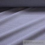 Stoff Baumwolle Seersucker Vichy Karo dunkelblau weiß 2, 5 mm Vichykaro bügelfrei