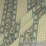 Stoff Baumwolle Provence ecru Ranke Streifen Blüte Indienne