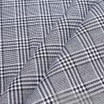 Stoff Baumwolle Glencheck schwarz weiß fest robust stabil Baumwollstoff Pepita