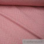 Stoff Baumwolle Seersucker Vichy Karo rot weiß 2, 5 mm Vichykaro bügelfrei