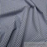 Stoff Baumwolle Vichy Karo dunkelblau weiß 2, 5 mm Vichykaro