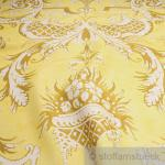 Stoff Leinen gelb Ornament Reinleinen bedruckt