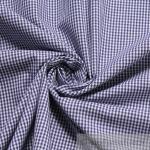Stoff Baumwolle Vichy Karo klein dunkelblau weiß weiss 1, 5 mm Vichykaro