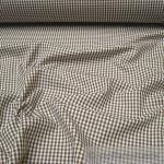 Stoff Baumwolle Vichy Karo braun weiß 2, 5 mm Vichykaro