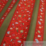 Stoff Baumwolle Provence rot Blümchen Streifen Blume grün Indienne Baumwollstoff