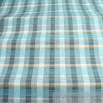 Stoff Baumwolle Karo türkis schwarz weiß Blusenstoff Hemdenstoff Baumwollstoff
