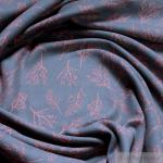 Stoff Baumwolle / Lycra Single Jersey grau Nachtbeere kbA GOTS C. Pauli