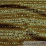 Stoff Wolle Polyester Strick Norweger ocker angeraut Sweatshirt weich