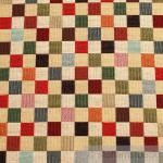 Stoff Baumwolle Polyester Gobelin Karo bunt Decke Kissenbezug Tasche