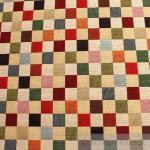 Stoff Baumwolle Polyester Gobelin Karo klein bunt Decke Kissenbezug Tasche