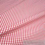 Stoff Baumwolle Vichy Karo groß rot weiß 5 mm Vichykaro