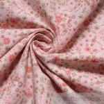 Stoff Baumwolle Popeline rosa Mille Fleur hellgrün Baumwollstoff