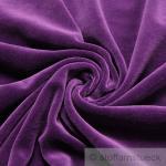 Stoff Baumwolle Polyester Nicky lila Nicki weich