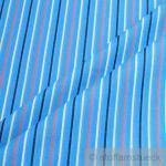 Stoff Baumwolle Köper Streifen aqua gelb rot Jeansstoff weich