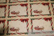 Stoff Baumwolle Polyester Gobelin Weihnachtsmann 4 Tischset Weihnachtsstoff Sets