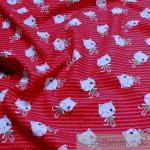 Stoff Kinderstoff Baumwolle Popeline pink Katze Kätzchen little Darling