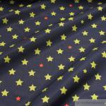 Stoff Polyester Lycra Softshell Stern dunkelblau kiwi wasserabweisend