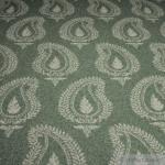 Stoff Wolle Polyamid Flanell Paisley oilv grau angeraut weich blickdicht