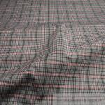 Stoff Baumwolle Karo grau pink anthrazit Blusenstoff Hemdenstoff Baumwollstoff