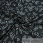Stoff Baumwolle schwarz Paisley grau anthrazit links angeraut Baumwollstoff