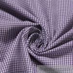 Stoff Baumwolle Vichy Karo klein lila weiß weiss 1, 5 mm Vichykaro