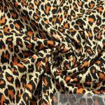 Stoff Baumwolle Lycra Köper braun Leopard Hemd Bluse Rock Animal Print